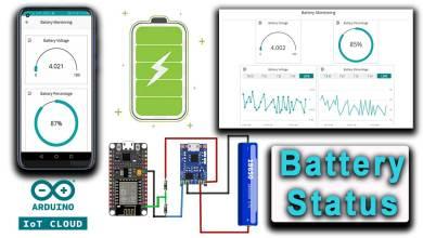 IoT Based Battery Status Monitoring System using ESP8266 & Arduino IoT Cloud
