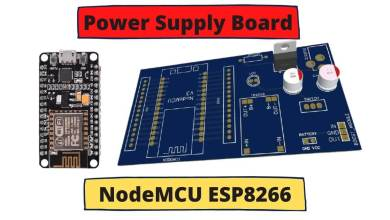 Power Supply board for NodeMCU ESP8266 with Battery Charger & Boost Converter