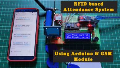 RFID based Attendance System using Arduino & SIM800L Module