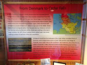 The main exhibit at the historic Victorian house is the history of Cedar Falls' Danish heritage and their plight in the Cedar valley.