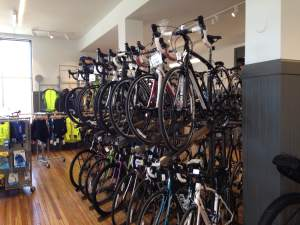 Bike Tech's sales floor is jam packed with quality bikes and a crew ready to assist their customers. The sounds of tools twisting and turning will be echoing through this building more and more as the summer moves in and RAGBRAI nears. Get after it Bike Tech! https://www.facebook.com/biketechcf?fref=ts