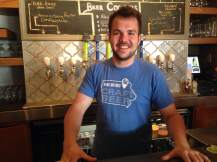 "Today's tap-master was Austin and his unwavering loyalty to all the beers he helps brew and pour. ""Asking me to pick my favorite beer we brew is like asking you who your favorite kid is."" Well put, Austin! He knows his craft(s). https://www.facebook.com/SingleSpeedBeer?fref=ts"