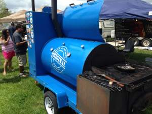One of the most noticeable smokers of the day belonged to the Out of the Blue BBQ team.