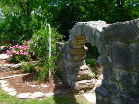 The entrance had the feeling of stepping into a peaceful grotto. That is if remember to duck.