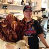 The Village Meat Market & Cafe was loaded with customers and had plenty of their house made candied bacon for all the pork lovers of the world.