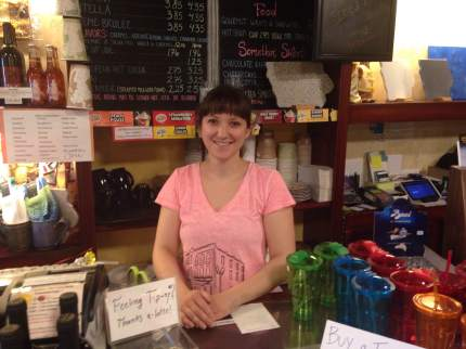 Isabella made a mean Ice Coffee and has her shop loaded with chocolate, gifts, and everything coffee!