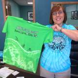 Chamber of Commerce Marketing Director, Shelley Warner, and all of Shenandoah locked in for the returning riders of RAGBRAI!