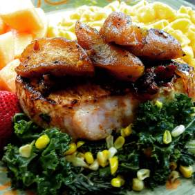 Pork Chops w/ Wilson's Hard Cider Apple Chutney
