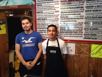 Jose and Diego! The masters of Mimi's menu!