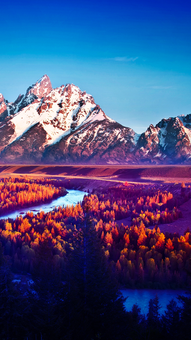 Wallpapers For Guys And Girls Snake River Mountain Landscape The Iphone Wallpapers