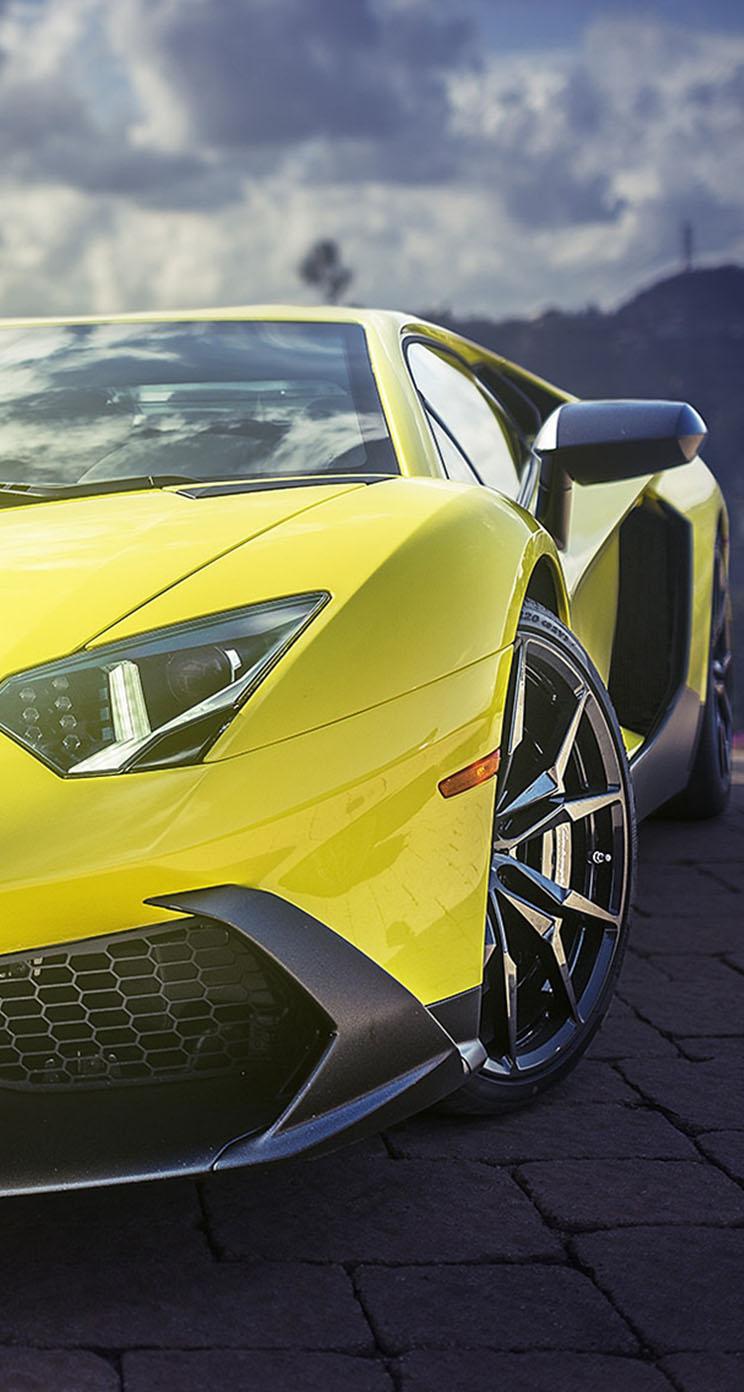 More Iphone Wallpapers Yellow Lamborghini Aventador Supercar The Iphone Wallpapers