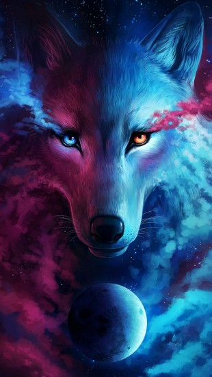 Apple Space Wallpaper Iphone Wolf Galaxy The Iphone Wallpapers