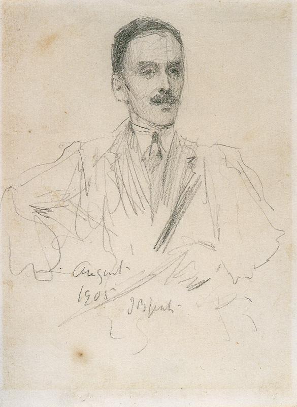 Hugh Lane pencil portrait 1905