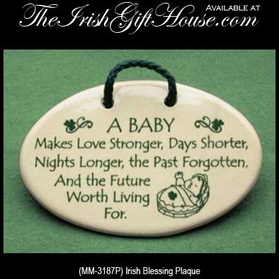 Irish Baby Blessing Plaque Irish Baby Gifts