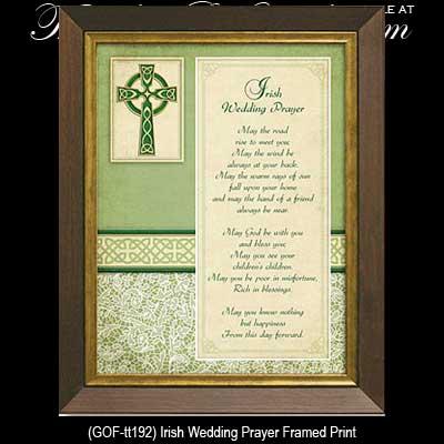 Irish Wedding Blessing Plaque Framed