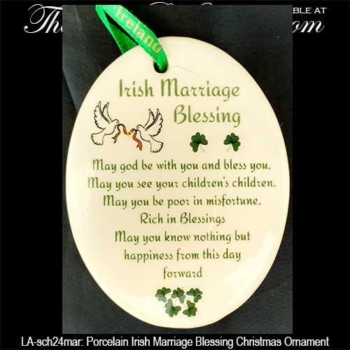 Irish Christmas Ornament Irish Wedding Blessing With