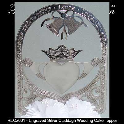 Irish Wedding Cake Topper Claddagh In Silver