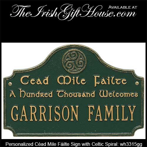 céad mile fáilte welcome