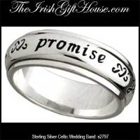 Sterling Silver Celtic Band, Irish Promise Ring