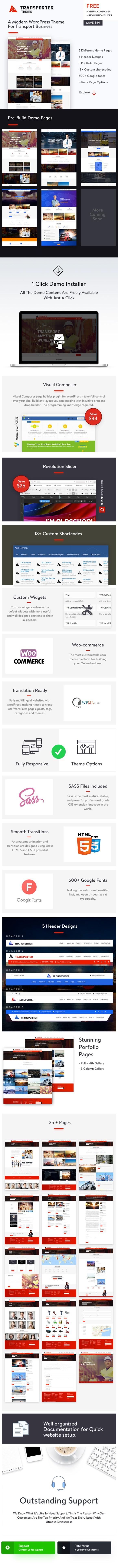 Transportation & Logistics WordPress Theme - 1
