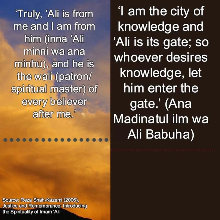 muhammad about ali hadiths