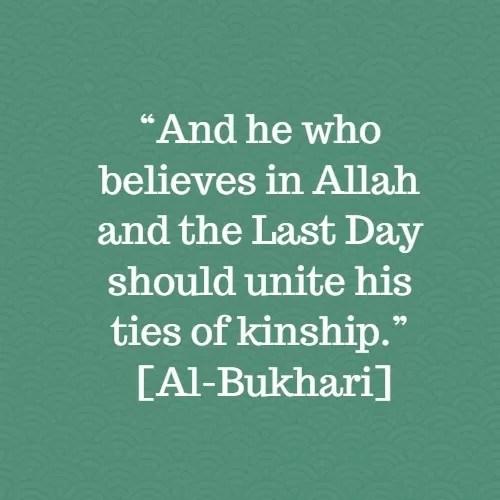 kinship relatives relationship al bukhari hadith
