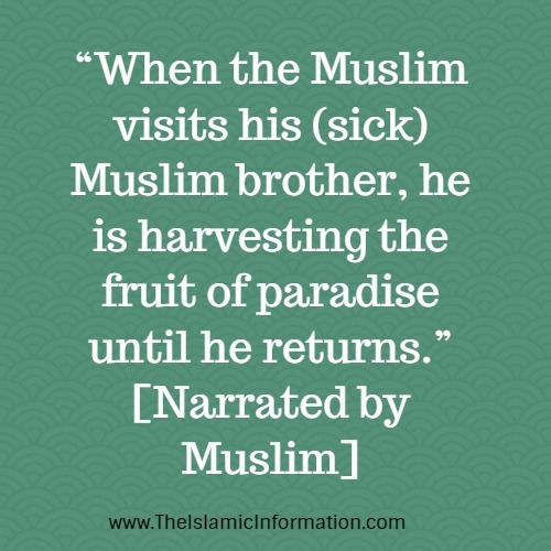 visiting sick shahih muslim