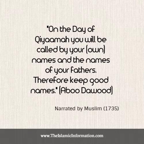 nick names islam hadith