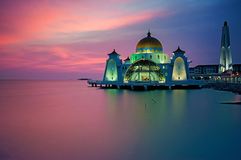 Malacca Straits Mosque Malacca Malaysia