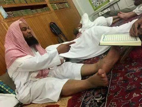 people disrespecting quran madinah