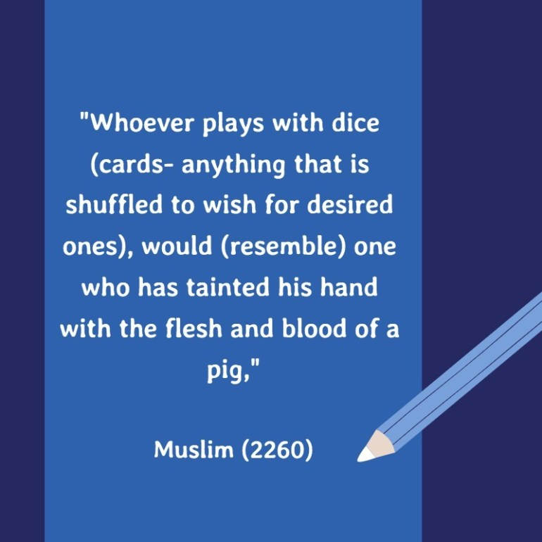 playing cards hadith
