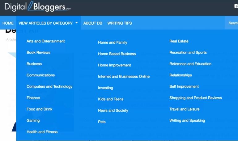 digital bloggers website