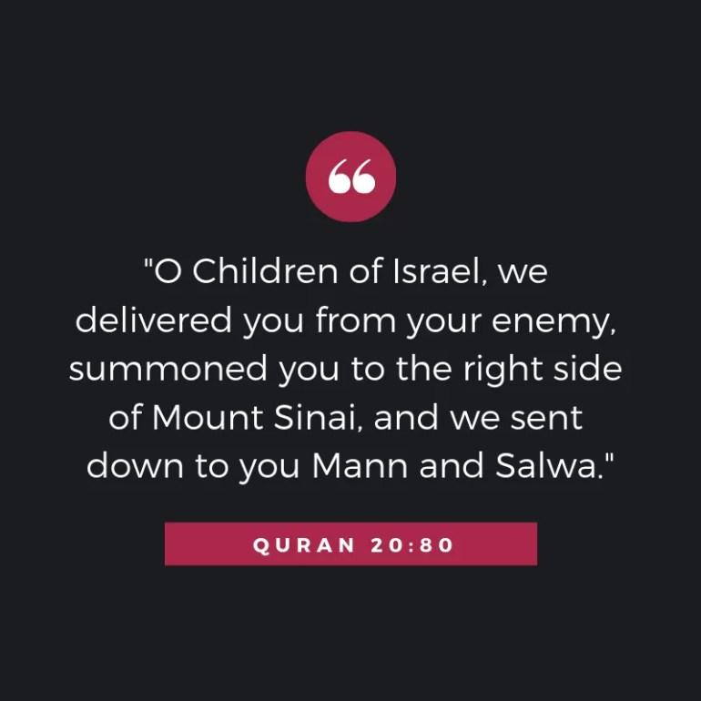 Quran MAN O SALWA BANI ISRAEL