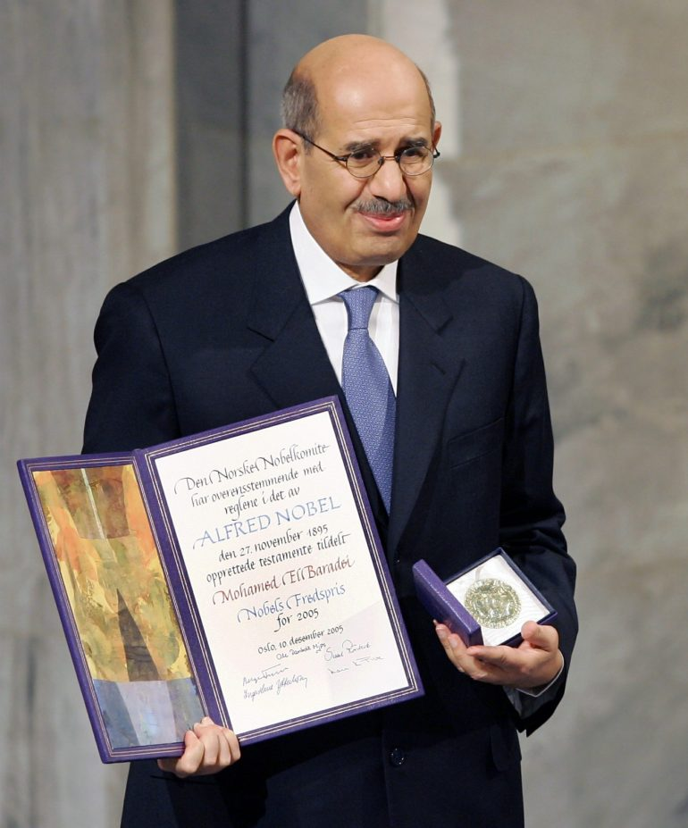 ElBaradei Nobel Peace Prize