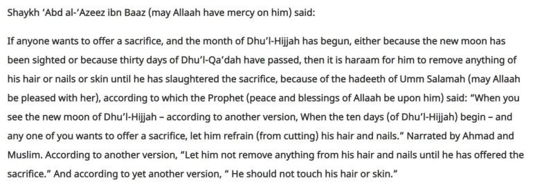 Cut Hair And Nails Before Qurabani