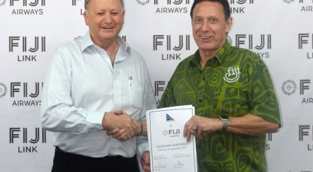 SolAir & Fiji Airways sign codeshare agreement