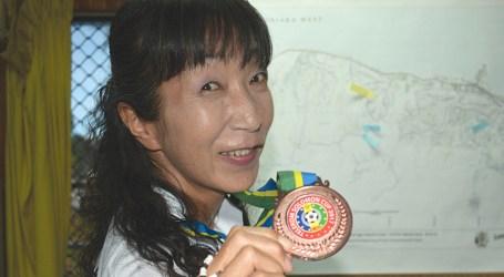 Japanese volunteer received medal for her works