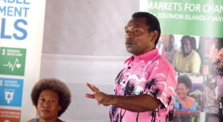Honiara market with new lighting