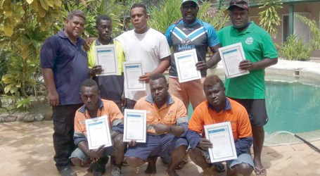 Small craft survival training ends in Gizo