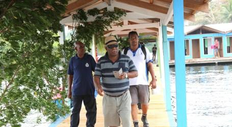 PM visits swimming facility in Lake Tegano