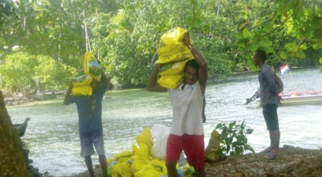 People of Ndai island receive relief supply