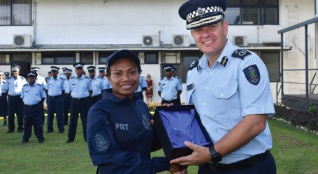 RSIPF female officer receives award from regional police organisation
