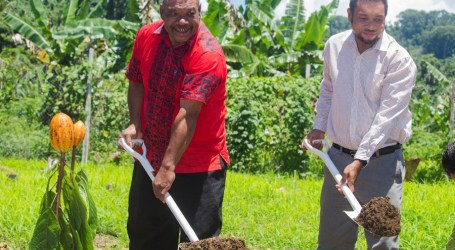Country's first cocoa mill project launched in Makira