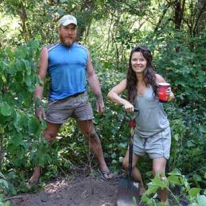 Celebrating our friend Beth's birthday by planting a Baobab tree on The Island