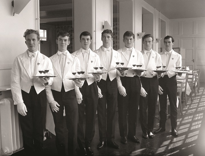 Trainee waiters at Thanet Technical College, Broadstairs, Kent. 1965