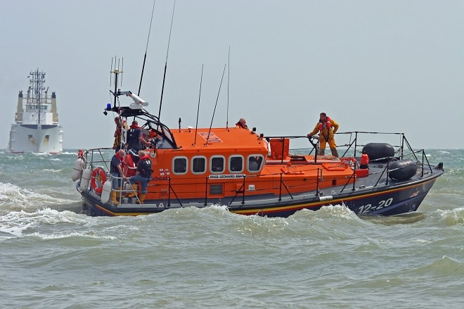 Margate RNLI all-weather lifeboat 'Leonard Kent' at sea (RNLI Margate)