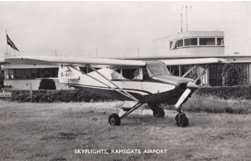 Skyflights Plane at Ramsgate Airport Kent Vintage Real Photo Postcard