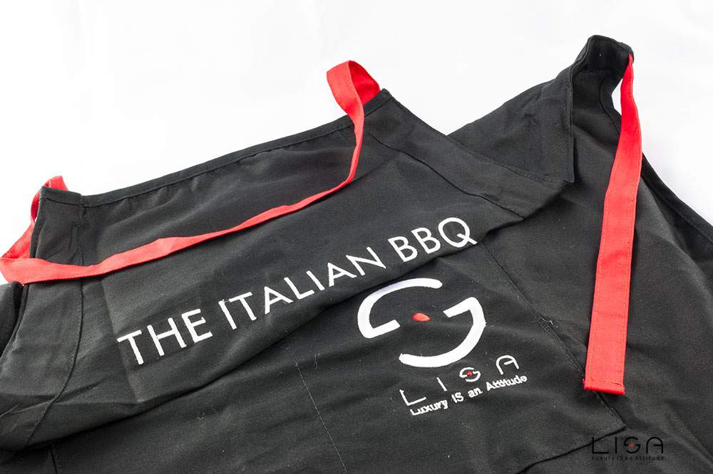 Grembiule per barbecue con logo ricamato | The Italian BBQ | LISA | Acquista accessori per barbecue