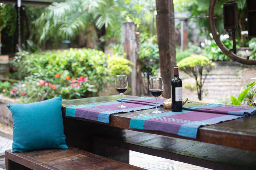 italian wine for springtime: 1 bottle with 2 glass on the table