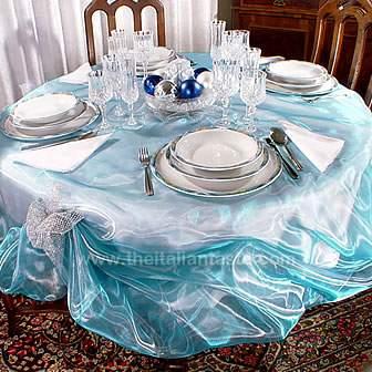 Blu e azzurro sulla tavola di Natale